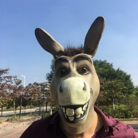 Halloween Novelty Breathable Latex Rubber Creepy Mask Costume Party Prop Elephant Crocodile Donkey Cat Head Mask Elephant