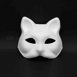 Fox Unpainted Blank White Mask Woman Lady Cat Girls Venetian Masquerade Masks Halloween Party Dress Supplies Halloween White