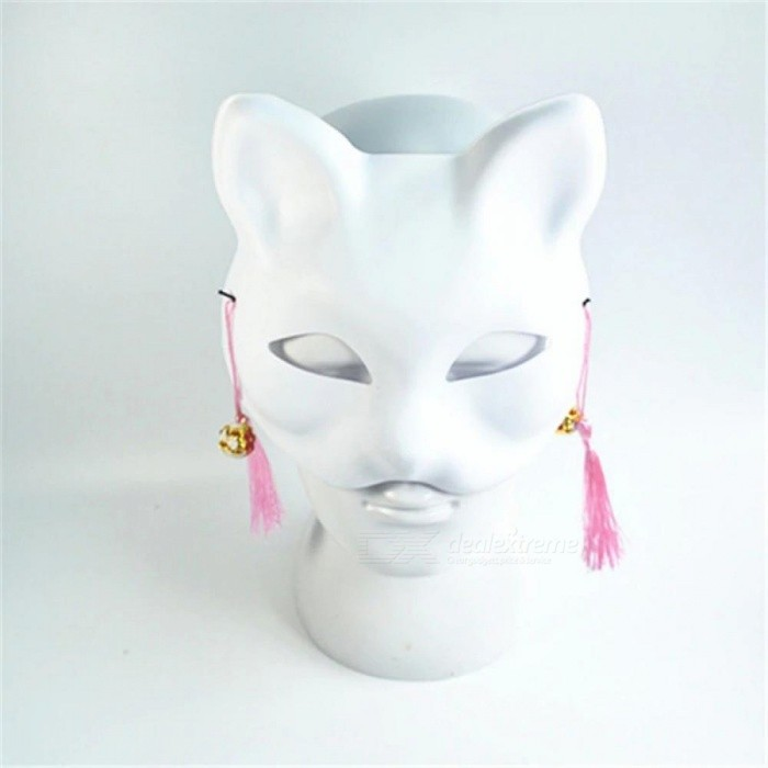 White Classic Cat Mask Colorful Fashion Cosplay Costume Masks for Women Men Wedding Birthday Masquerade Party Accessories