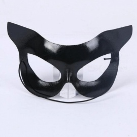 Black Cat Mask Women Girls Masquerade Half Face Eye Masks Eyewear Halloween Dress Up Decor Party Supplies Black