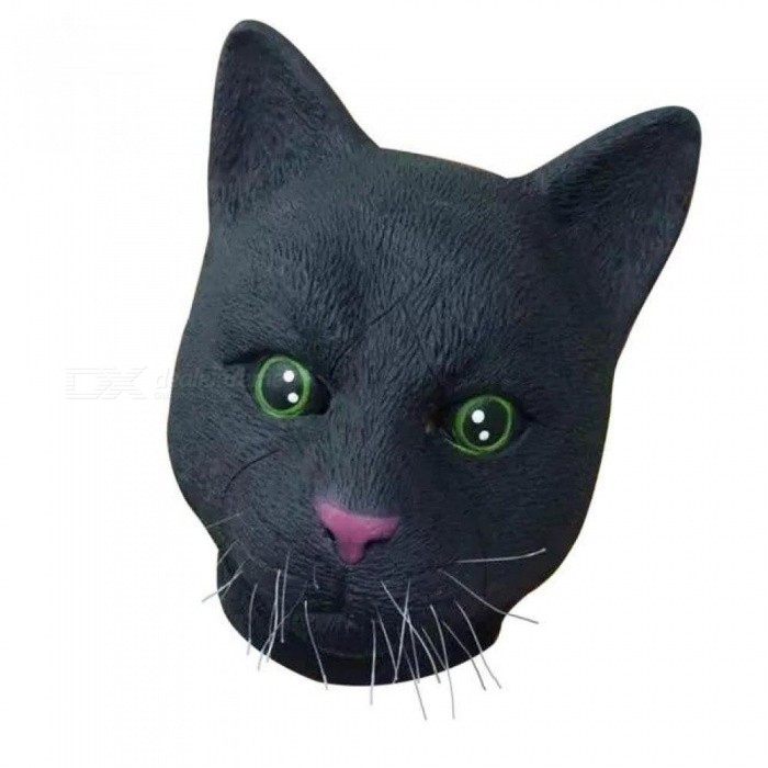 Halloween Airsoft Mask Black White Cat Latex Mask Costume Masquerade Carnival  Party Supplies Decoration Mascaras