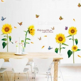 Sunflower Wall Stickers Living Room Decorations Diy Home Decoration Home Decals Mural Arts Poster 1 Set A