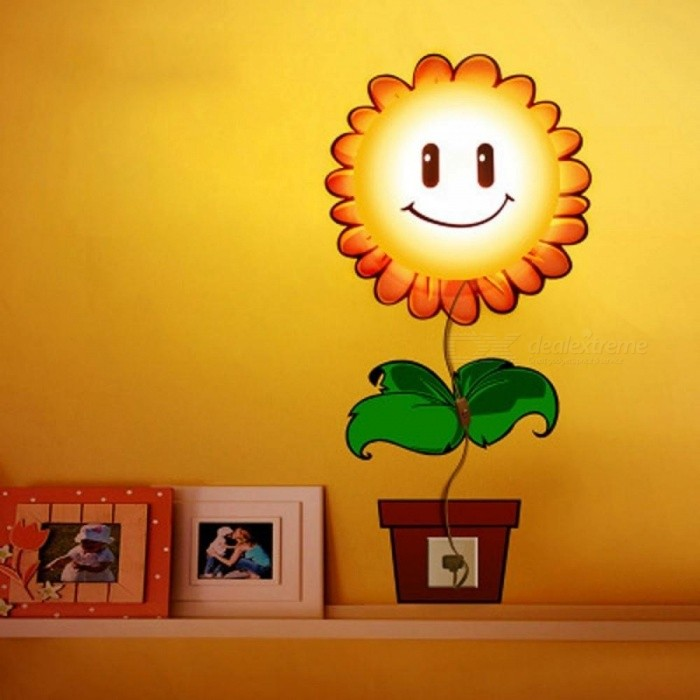 Led Sconce Light Wallpaper Sticker Paper 3D DIY Wall Lamp Modern Novelty Wandlamp For Kid Baby Bedroom Cartoon Night Lights