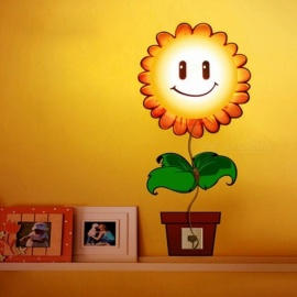 Led Sconce Light Wallpaper Sticker Paper 3D DIY Wall Lamp Modern Novelty Wandlamp For Kid Baby Bedroom Cartoon Night Lights Sunflower