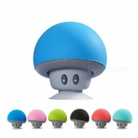Wireless Bluetooth Speaker Cute Mushroom Waterproof Sucker Mini Bluetooth Speaker Audio Outdoor Portable Bracket for XiaoMi iPad Blue