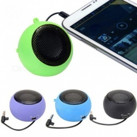 Mini Portable Hamburger Speaker Amplifier For iPod iPad Laptop for iPhone Tablet PC With Multi Color Optional Black
