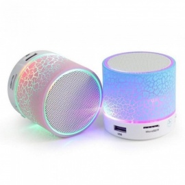 A9 Mini Wireless Portable Bluetooth Speaker With LED, Built-in Mic Support AUX, TF, U-Disk Input for iPhone iPad Android Phones Black