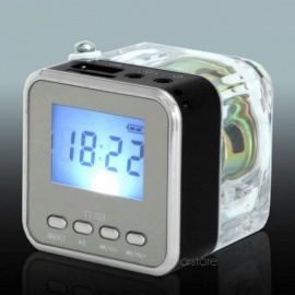 Mini NIZHI TT-028 LED Speaker  Display USB2.0 FM SD For  iPhone  IPad  iPod  MP3 PC With Multi Color Optional Black