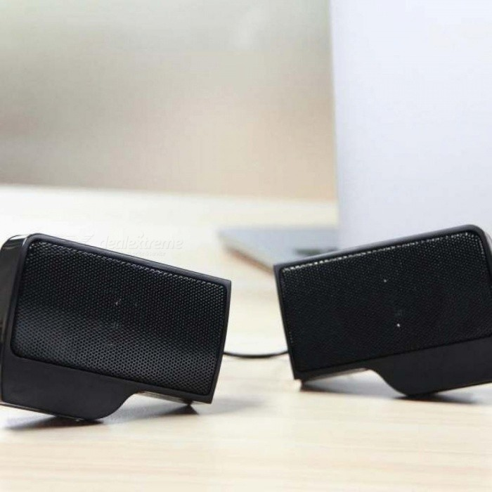 Mini Laptop Speaker Clip-on Soundbar USB Stereo Speakers Wired Line Controller Music Players for Notebook Phone iPad PC