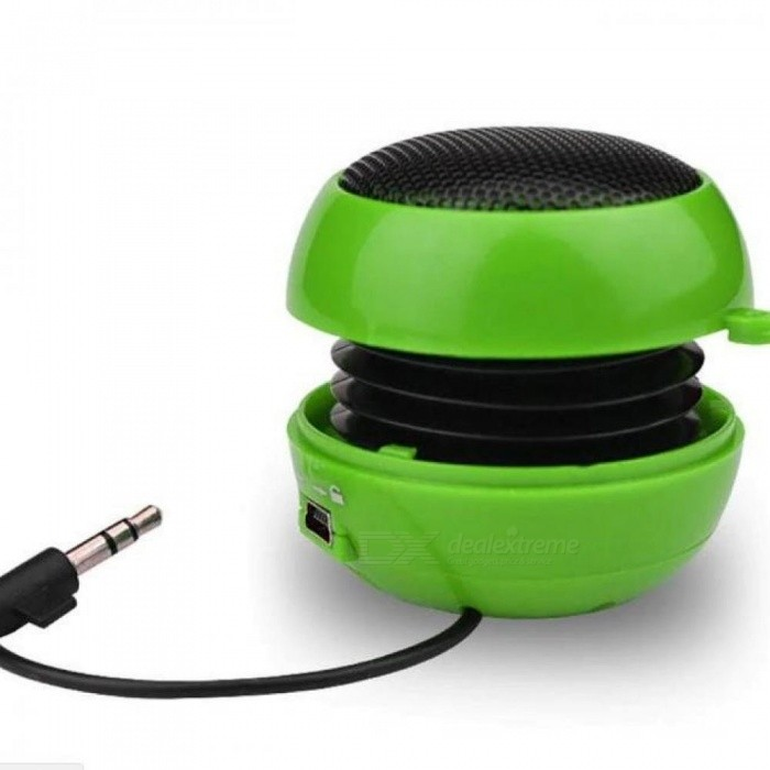 Enjoy Music Mini Portable Hamburger Speaker Amplifier For iPod iPad Laptop For iPhone Tablet PC Port Circular