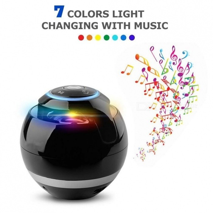 Magic Ball Wireless Bluetooth Speakers with Subwoofer Mini Round Hi-Fi Speaker Portable Indoor Outdoor For iPhone iPad iPod