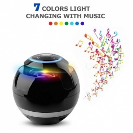 Magic Ball Wireless Bluetooth Speakers with Subwoofer Mini Round Hi-Fi Speaker Portable Indoor Outdoor For iPhone iPad iPod Black