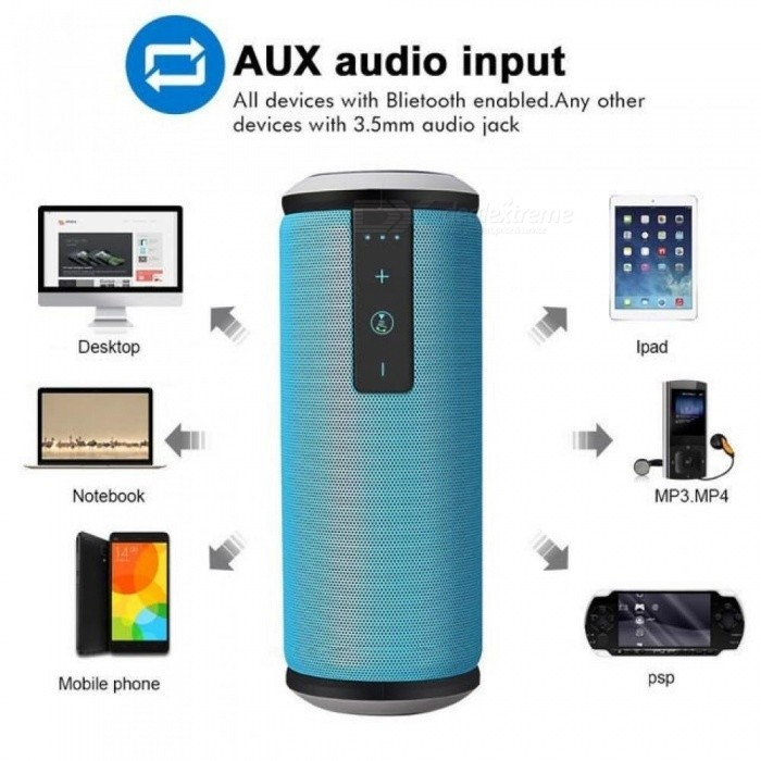W-king X6 Bocina Bluetooth Mini Super Bass Portable Outdoor Column Wireless Speaker for iPhone iPad Android Smartphone Speakers