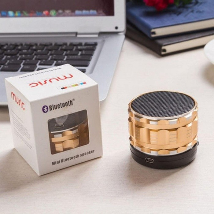 Fashion 5V Portable Metal Steel Mini Wireless Bluetooth Speakers For iPad / For iPad2 For iPhone For Samsung / Xiaomi
