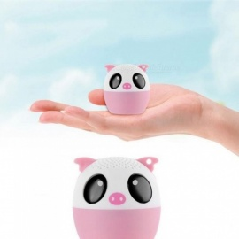 Animal Wireless Bluetooth Speaker with Powerful Rich Room-Filling Sound 3W Audio Driver For iPhone/iPad/iPod/Samsung/HTC/Tablets Pink