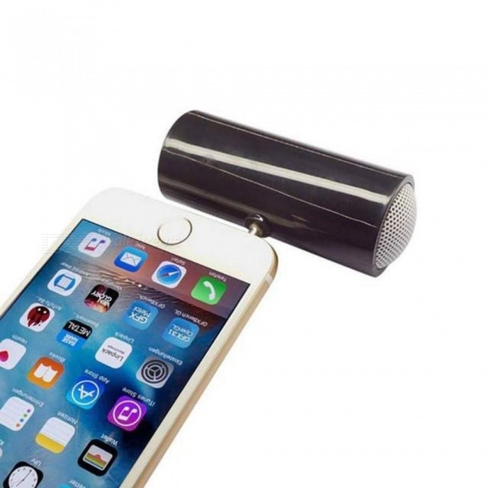Mini Cylindrical Small Speaker 3.5mm Jack Mobile Phone Speaker For iPhone Samsung Huawei Phones Ipad Tablet