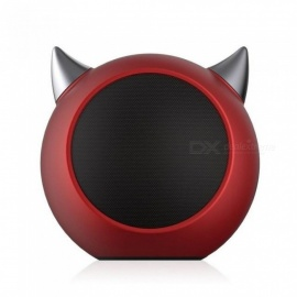 Rock Portable Bluetooth Mini Speaker With LED Horns Enhanced Bass Compatible With iPhones iPads Laptops Computer Red