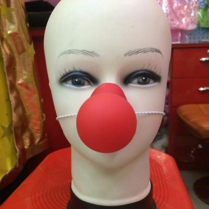 Red Nose Honking Circus Clown Nose Comic Party Supplies Halloween Accessories Costume Magic Funny Props Red Clown Supplies