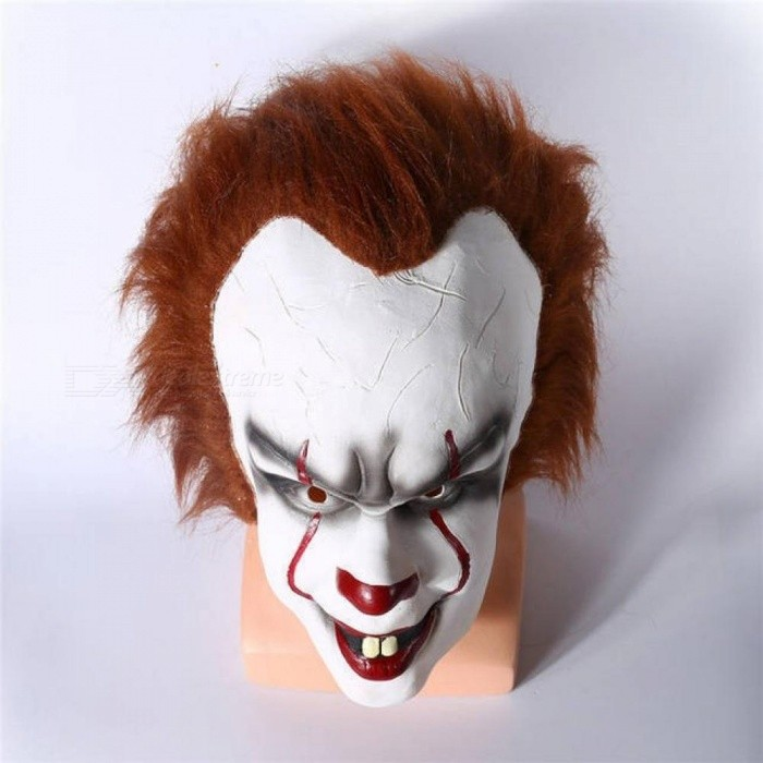 Stephen King's It Mask Pennywise Horror Clown Joker Mask Clown Mask Halloween Cosplay Costume Props 54-64CM