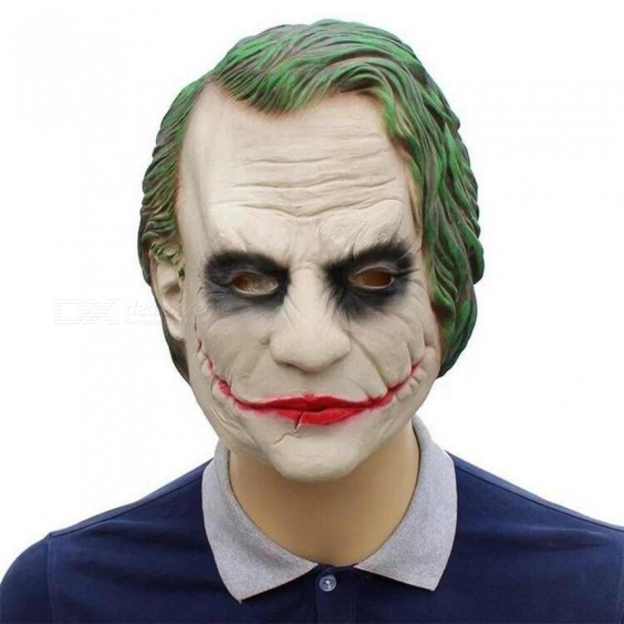 Buy The Dark Knight Movie Batman Joker Clown Latex Mask Costume Halloween Cosplay Prop Movie Masquerade Costume  A with Litecoins with Free Shipping on Gipsybee.com