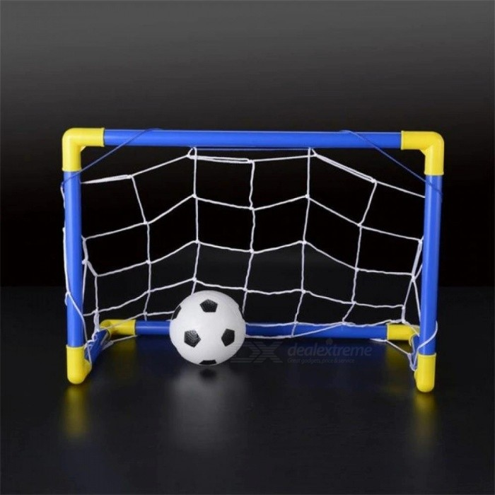 Buy Folding Mini Football Soccer Ball Goal Post Net Set + Pump Kids Sports Indoor Outdoor Games Toys Child Birthday Gift Plastic A with Litecoins with Free Shipping on Gipsybee.com
