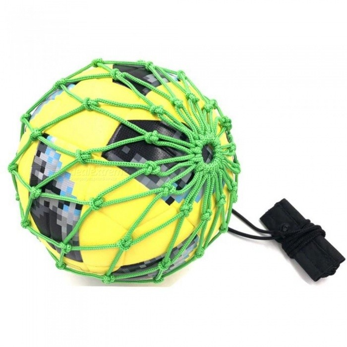 Handle Solo Soccer Kick Trainer with New Ball Locked Net Football Ball Bungee Elastic Training Juggling Net Size 3, 4, 5 Grey for sale in Bitcoin, Litecoin, Ethereum, Bitcoin Cash with the best price and Free Shipping on Gipsybee.com