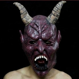 Horror-Screaming-Bloody-Face-Off-Horror-Mask-Halloween-Costume-Mask-Halloween-Decorations-Big-Horns-Demon-Mask-Bloody