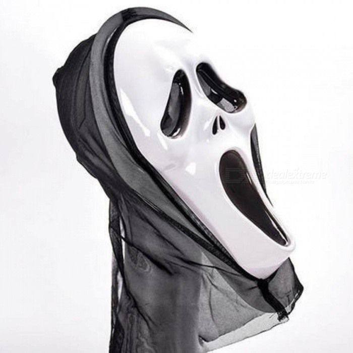 Halloween Scary Mask Skull Ghost Scary Scream Full Face Mask Masquerade Party Dress Adult Costume Party Cosplay Festival