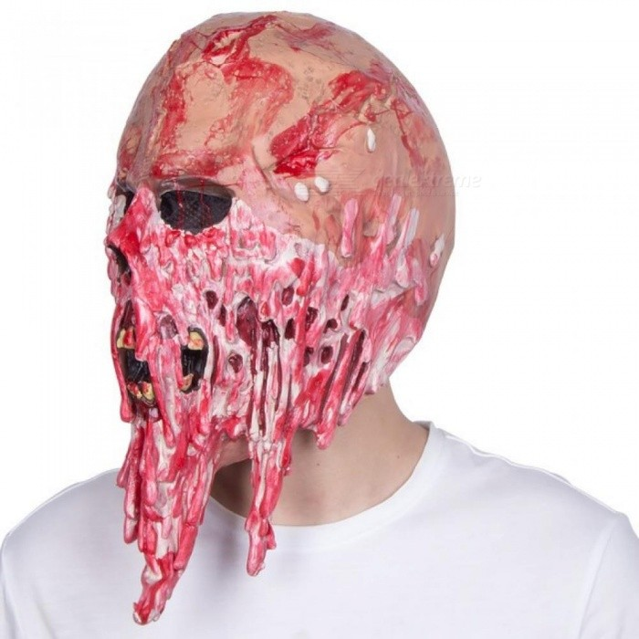 Latex Material Horror Full Face Mask Screaming Corpse Overhead Mask Scary Bloody Costume Cosplay For 1 PCS