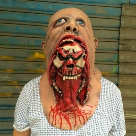Halloween-Masquerade-Horror-Vampire-Adult-Infected-Zombie-Mask-Scary-Costume-party-Props-Costume-Screaming-Corpse-Head-Mask-A