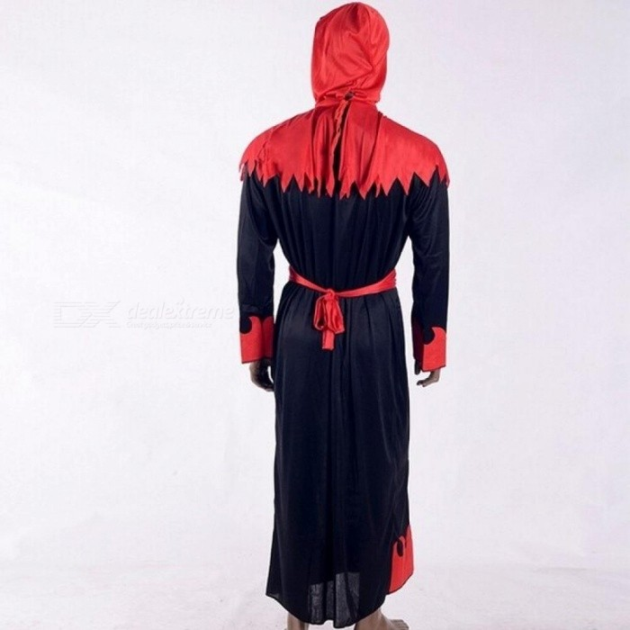 Halloween Costumes Performances For Men Cosplay Costume Devil Death Vampire Terror With Red And Black Color