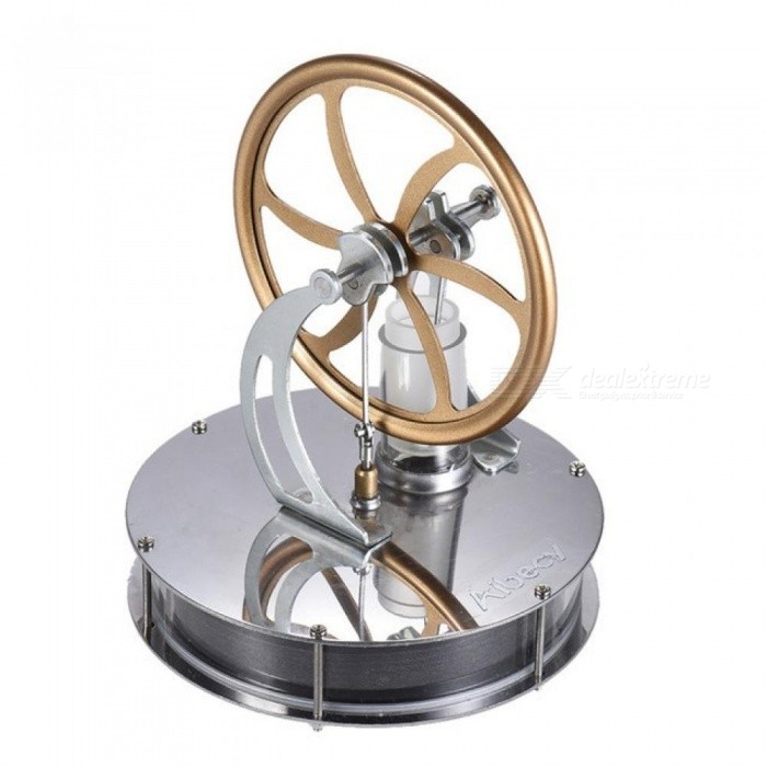 Stainless-Steel-Low-Temperature-Mini-Air-Stirling-Engine-Motor-Model-Heat-Steam-Education-Toy-Science-Experiment-Kit-Gold