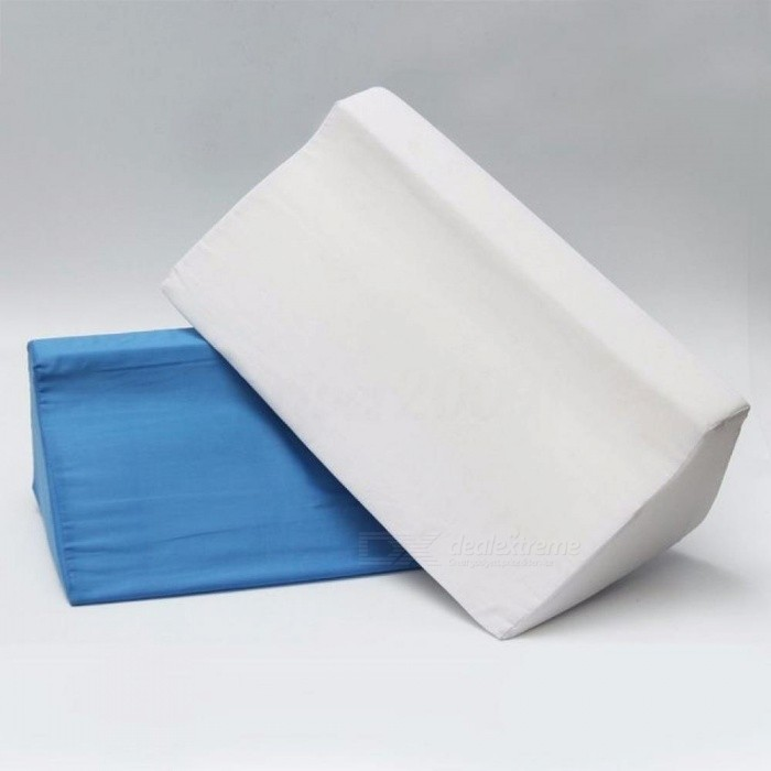 Foam Bed Wedge Pillow For Patient Care Leg Elevation Back Lumbar Support Cushion Comfortable Cushion White Blue