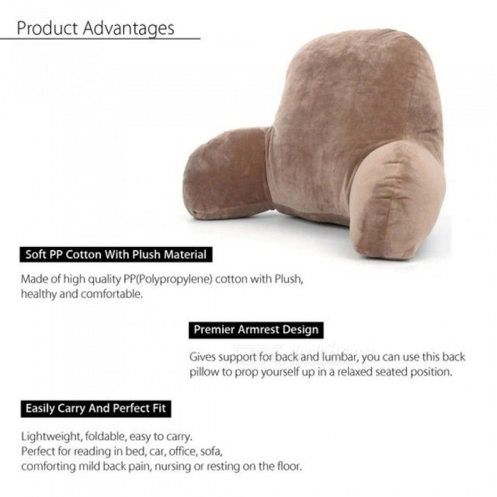 Lounger Lumbar Pillow Back Support Office Chair Backrest Bed Reading living Room Wedge TV Decorative Cushion Home Decor