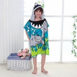 Beach-Towel-60x120cm-Cartoon-Kids-Colors-Baby-Hooded-Poncho-Character-kids-bath-robe-towel-Toallas-Playa-Serviette-De-Bain-Blue