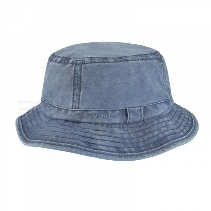 551231b4579 ... Cotton UV Protection Bucket Hat For Men Summer Boonie Hunting Fishing  Fisherman Hats Travel Japanese Sun ...