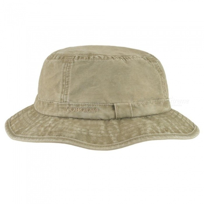 87136931e70 ... Cotton UV Protection Bucket Hat For Men Summer Boonie Hunting Fishing  Fisherman Hats Travel Japanese Sun