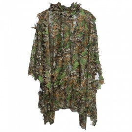 15m-3D-Hunting-Camouflage-Ghillie-With-Cap-Suit-Clothes-Jungle-Cloak-Poncho-Camo-Bionic-Leaf-For-Sniper-Photography-Camouflage-Suit
