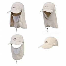 Sports-Sun-Mesh-with-Mask-String-Flap-Cap-Hat-For-Men-Women-Hunting-Fishing-UV-Protection-Foldable-Multi-Color-Optional-Black