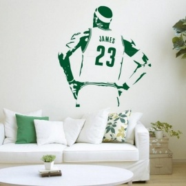 Home Decor Basketball Players Usa Flag Wall Sticker Sports Vinyl Decal Home Decoration Waterproof High Quality Mural Removable W-107 High Safety Home & Garden
