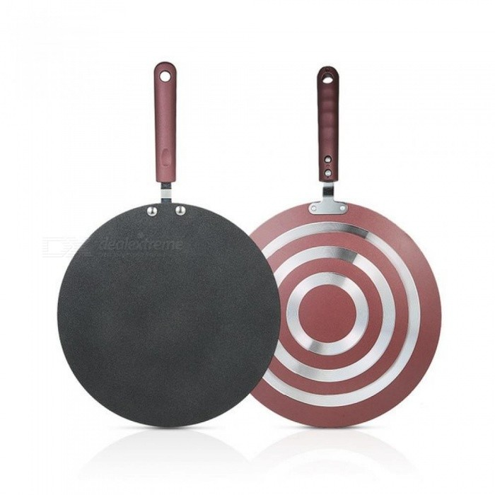 Kitchen Pancake Pan Non-stick Frying Pan Kitchen Tools Flat Pan Griddle Pan With Spreader And Spatula Crepe Maker Griddle Black/18.9*11.42 inch