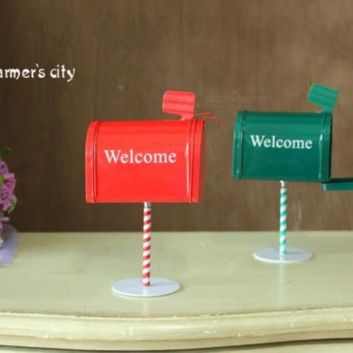 DIY-Crafts-Zakka-Photo-PropsHome-Decoration-Mailbox-With-Stand-Storage-For-Letter-Box-Greeting-Post-Card-Post-Box