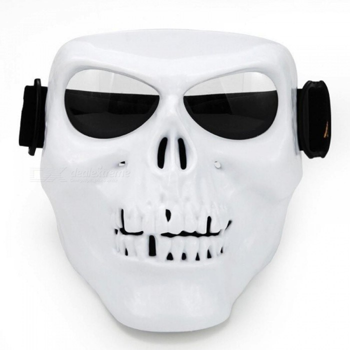 Monster Motorcycle Mask Goggles Match Open Face Motorcycle Half Vintage Retro Helmets Skull Outdoor Tactical War Game Face Mask White
