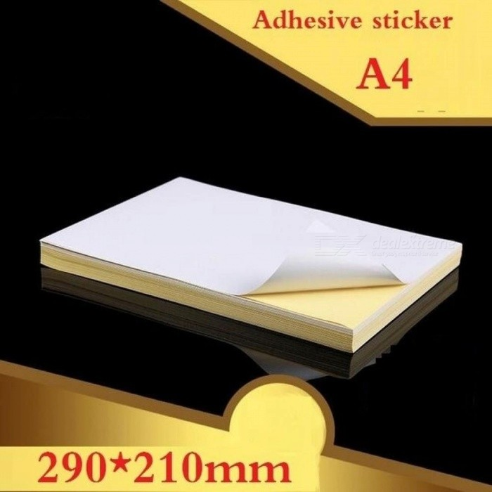 100-SheetsLot-A4-Size-White-Blank-Glossy-Matt-Sticker-Paper-Label-Printing-Paper-A4-adhesive-sticker-Printing-Paper-Glossy