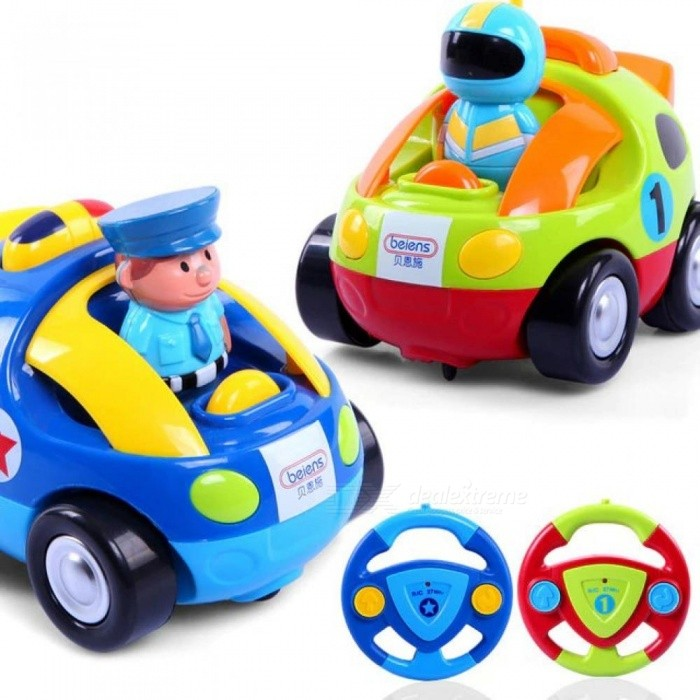Image of RC Car Baby Cartoon Fast Remote control cars Toys Educational Toys For Babies Car-Styling Furious Racing Radio-Controlled Toys Deep Blue