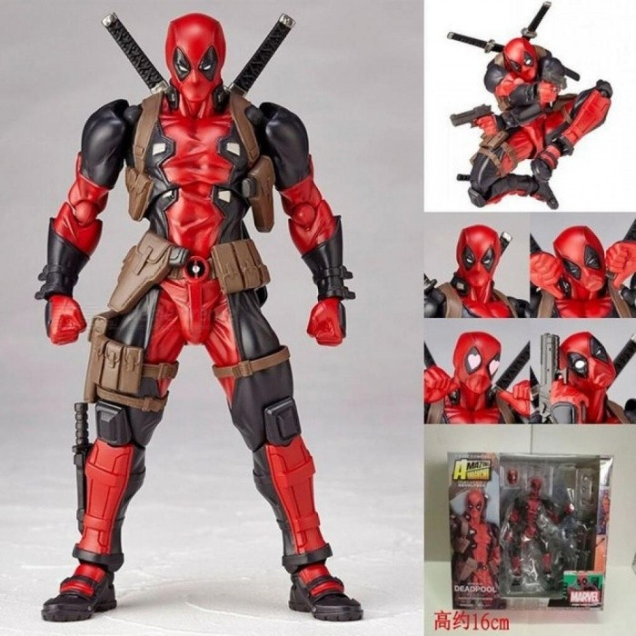 Deadpool-Action-Figures-Superhero-Figurines-Kids-Toys-For-Boys-Children-Anime-Model-Size-About-16CM-PVC-Material-Red