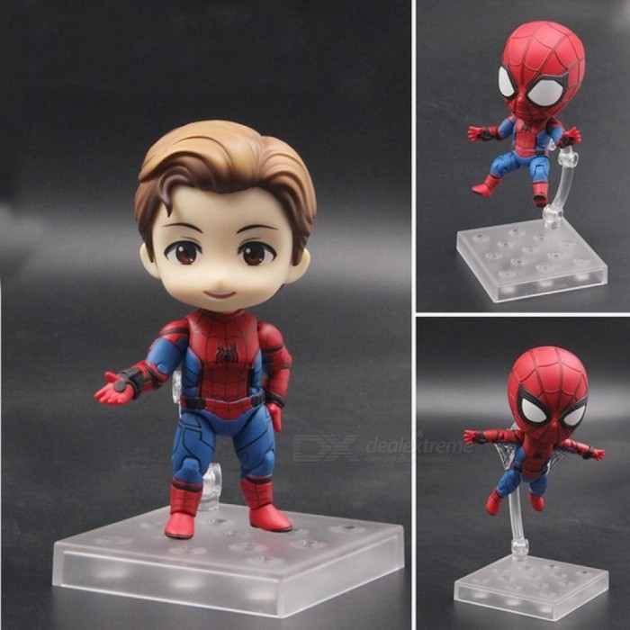 Anime Marvel Avengers Nendoroid 781 Cute Spiderman Kawaii Spider-Man 10cm Action Figure Toys PVC Material With Retail Package
