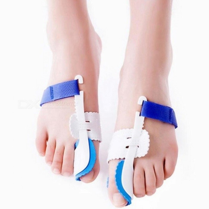 Voorvoet Bunion Hallux Valgus Orthopedische Braces Teen Thumb Orthopedie Been Ectropion Orthesen Teen Separator 2PCS Gratis Maat / Wit