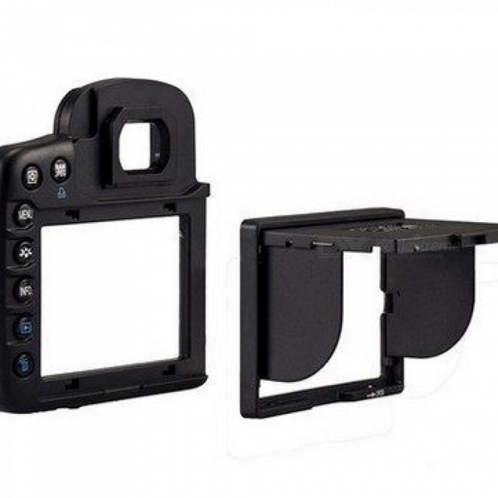 Camera LCD Hood Screen Protector and Sun Shade Shield Cover Shade For Canon Camera EOS 7D Split Type Black Black