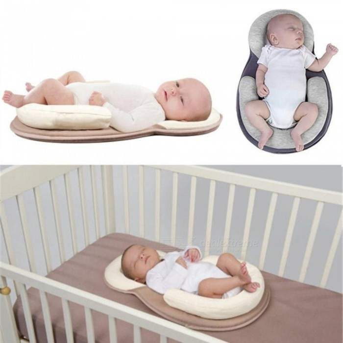 Portable Baby Crib Nursery Travel Folding Baby Bed Bag Infant Toddler Cradle Multifunction Storage Bag For Baby Care Creamy-white